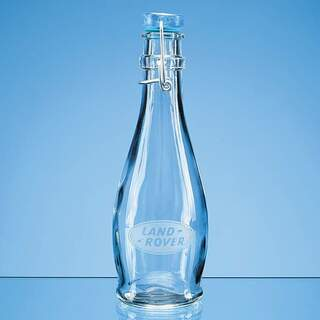 0.355ltr Round Blue Cap Swing Top Bottle
