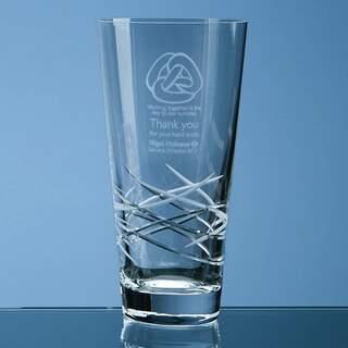 20.5cm Tiesto Cut Conical Vase