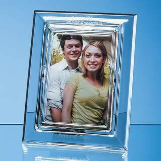 21.5cm Lead Crystal Plain Photo Frame for 4inchinch x 6inchinch Photo  H or V