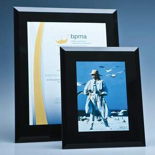 Black Surround Glass Frame for 5inchinch x 7inchinch Photo  H or V