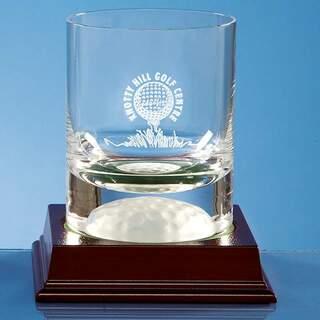 10oz Handmade Golf Ball Base Whisky Tumbler