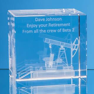 5cm x 5cm Optical Crystal Cube