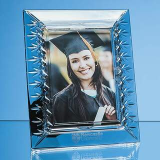 25cm Lead Crystal Panelled Photo Frame for 5inchinch x 7inchinch Photo  V