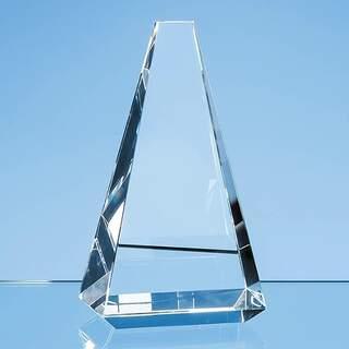 18cm Optical Crystal Vantage Peak Award